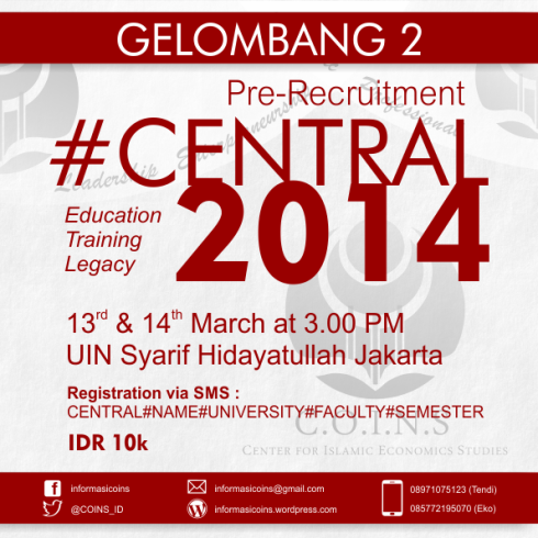 Pre-Recruitment #CENTRAL2014 Gelombang 2